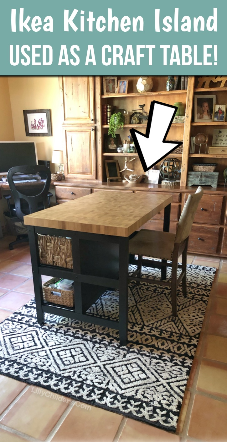 The Best Craft Table Hack From An Ikea Kitchen Island